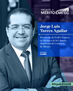 Tec de Monterrey reconoce a Jorge Luis Torres Aguilar