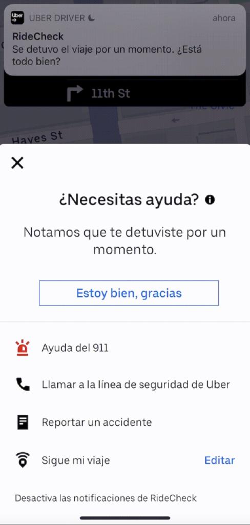 Uber Eats anuncia función: detección de anomalías